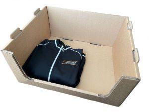 Stapelbare orderpick doos voor magazijnen.