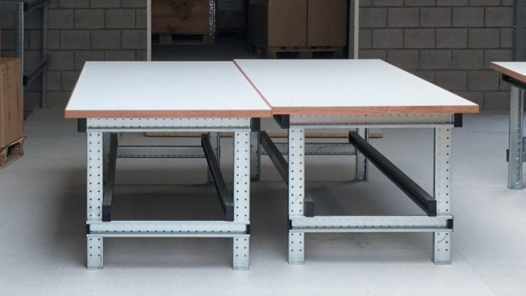 Werktafels gemaakt met montageprofiel van BJ Solutions BV